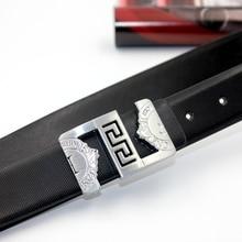 2017 belt men genuine leather luxury strap male belts for men smooth buckle fancy vintage jeans cintos masculinos ceinture homme