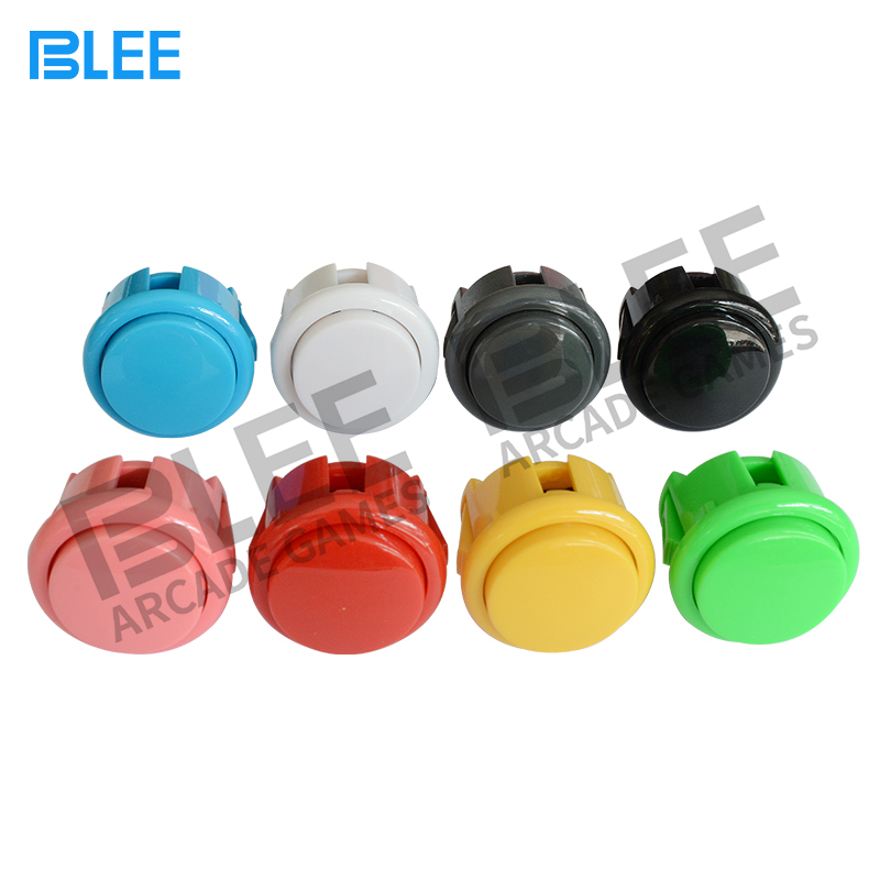 100 pcs 30mm Factory Price Arcade Button Round Push Button Built in Small Micro Switch For