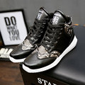 AD AcolorDay 2017 Faux Snakeskin High Top Men Shoes Sales Fashion Mixed Colors Spring Ankle Boots for Men Causal Fashion Boots