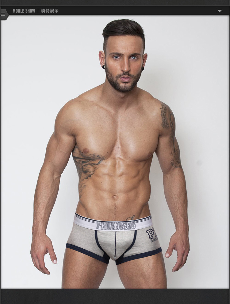 Topdudes.com - 4PCS/Lot Men's Boxers Shorts Solid Color Sexy Underwear