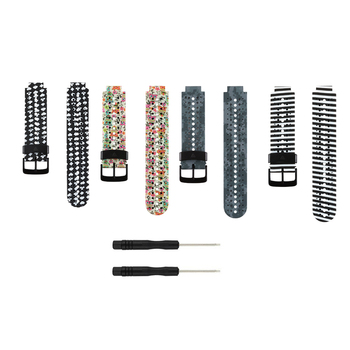 (230HS) 4pack-B Soft Silicone Replacement Watch Band for Garmin Forerunner 230 /235/235Lite/ 220 / 620 / 630 / 735 Smart Watch