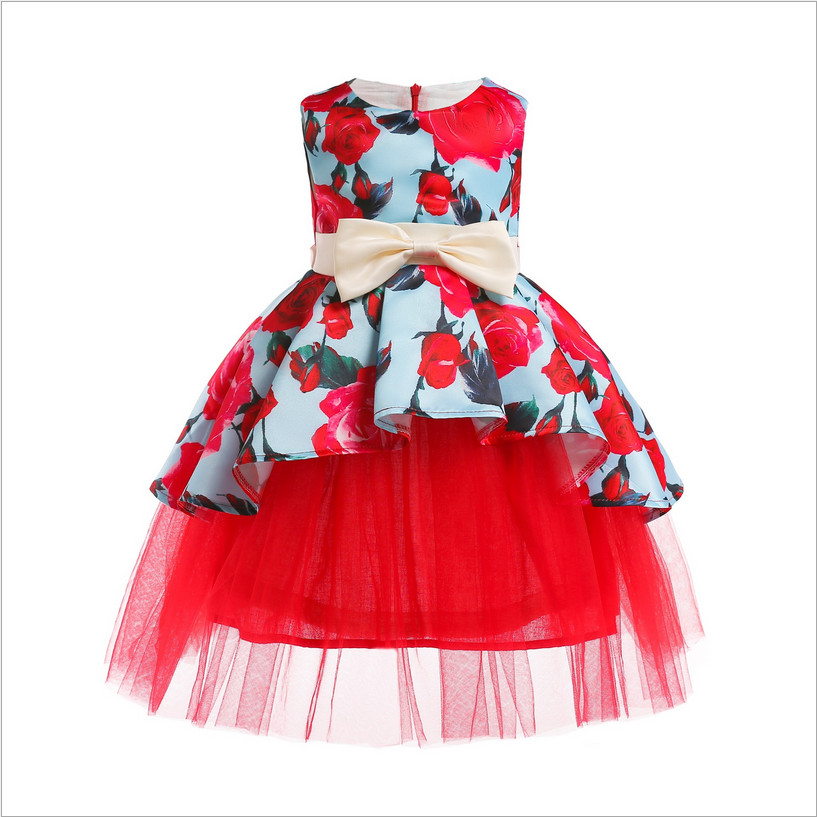 Girls Party Dress 2018 New Girls Wedding Dresses Fashion High-grade Children Party Dress High-quality Goods Girl Clothing