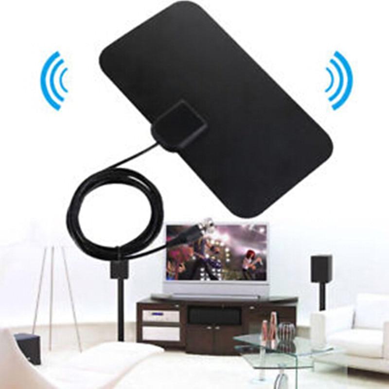 50 Miles Digital Free TV Fox Antenna Receiver Analog TVFox Antena Amplifier HDTV Aerial Mini DVB-T DVB-T2 UHF VHF ATSC PAL DTV
