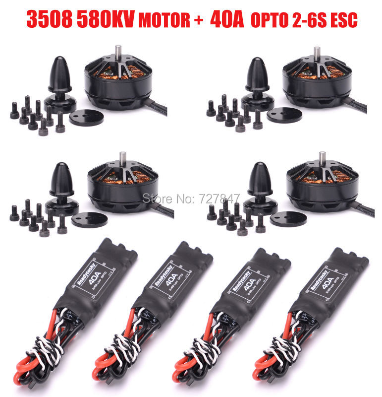 3508 580kv Brushless Motor + High Performance ReadytoSky 40A / 30A OPTO Brushless 2-6s ESC For FPV ZD550 ZD850 f450 multi copter quadcopter rack kit apm2 8 8n m8n gps 2312 920kv motor readytosky 40a opto esc super combo