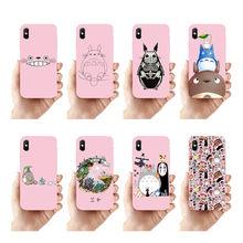 Bonito kawaii totoro ghibli miyazaki anime uma viagem de chihiro kaonashi tpu caso claro para iphone 11 12pro mini 7 8 x