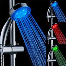 3 Colors Temperature Control LED Shower Head Bathroom Rainfall Shower Top Shower Head Automatic Light Switching RGB Bath Sprink