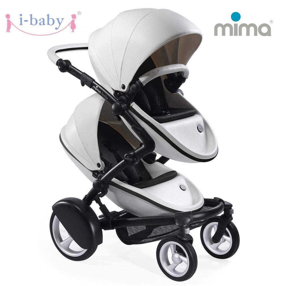 i-baby Mima Kobi Twin Baby Stroller Double Stroller Landscape Portable Baby Pram Lightweight Pushchairs Foldable Kinderwagen