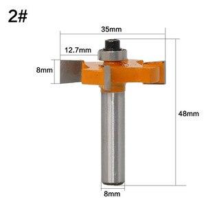 Image 5 - 1Pc 8mm Schaft T Slot Fräser Mit Top Lager Holzbearbeitung Router Bits Schneider Für Holz Rabbeting Bit großhandel Preis