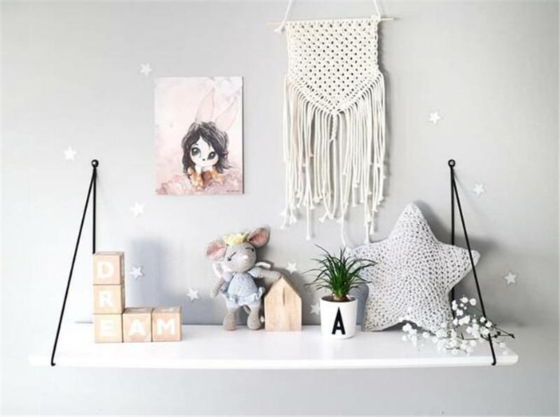 Bohemian macrame wall hanging hand-woven tapestry simple home hang - up living room wall hanging decorations Indian boho decor dřevěné dekorace do dětského pokoje
