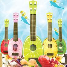 Fashion Fruit Design plastic Guitar Ukulele Mini Fruit Musical Instrument Educatonal Toys Baby Children kids Musical toy guitar