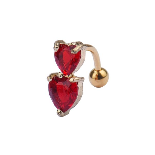 HTB1jePAPVXXXXXQXXXXq6xXFXXXF Heart Belly Button Ring - Double Golden Crystal Belly Button Ring For Women - 5 Colors