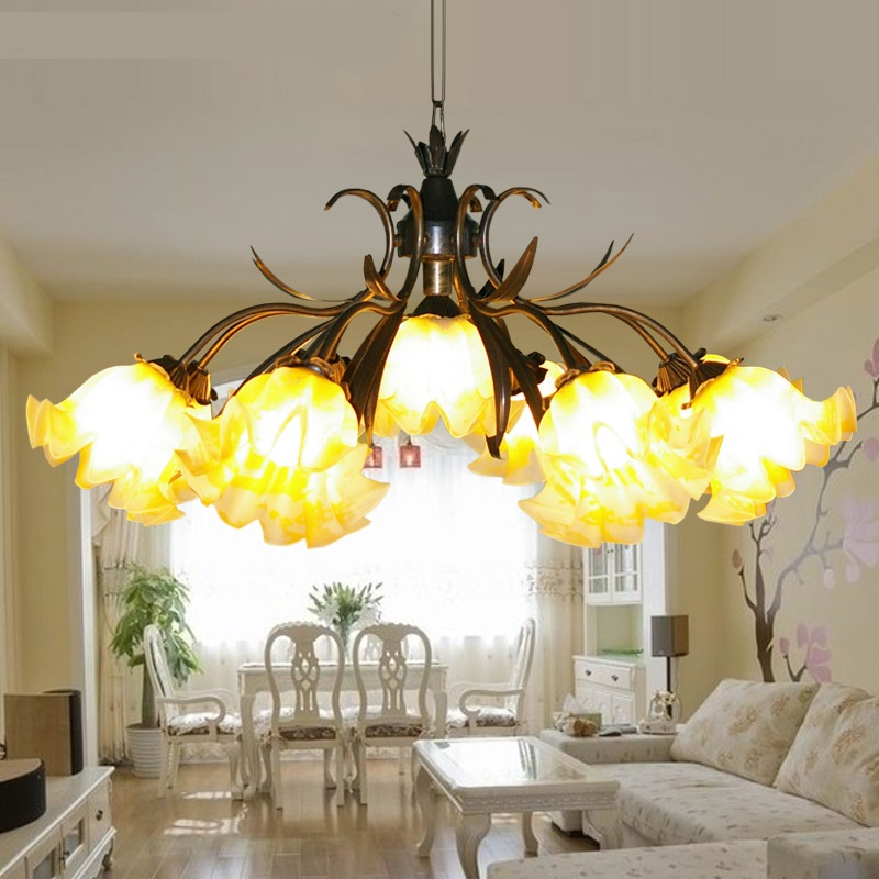 9 HEAD lighting restaurant lamp pendant light fashion flowers and rustic lighting fitting FG988 lo1024 head lamp
