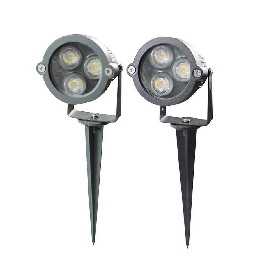 Bright Cast-Aluminum 3W waterproof IP65 Led Outdoor Landscape Spotlight  Fixture LED Low Voltage Garden wall Lawn Yard light lamp