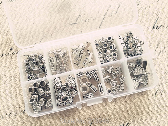 ( Pendant Connector ) 90Pcs/Set Mix 10 Styles Vintage Silver Jewelry Connectors Jewelry Findings & Accessories
