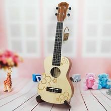 Ukulele 23 Concert Acoustic Mini Hawaiian guitar 17 Fret 4 strings musical instruments guitalele Electric Ukulele with Pickup EQ