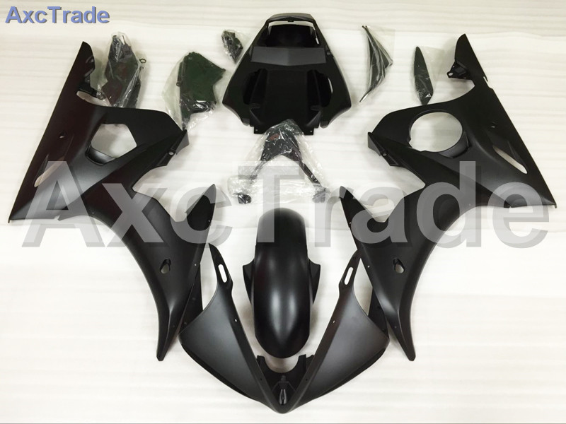 Motorcycle Fairings Kits For Yamaha YZF600 YZF 600 R6 YZF-R6 2003 2004 2005 03 04 05 ABS Injection Fairing Bodywork Kit Black motorcycle part front rear brake disc rotor for yamaha yzf r6 2003 2004 2005 yzfr6 03 04 05 black color