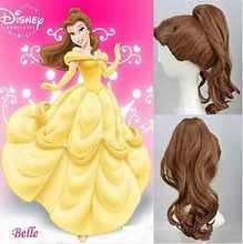 Free shipping !!!  New Princess cos wig Beauty and the Beast – Bell Princess Split ponytail wig
