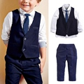 Best Selling Gentleman Clothes Boys Kids Outfits Children's Clothing Wedding Formal Suits Vest & Shirt & Tie & Pants