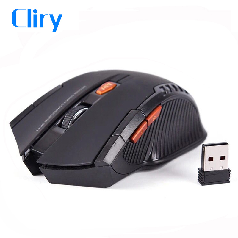 Cliry 2.4G Wireless Optical Mouse Gamer 1600DPI 6D Computer PC Peripherals Mini Mice Laptop Desktop Home Use Work Gaming Mause