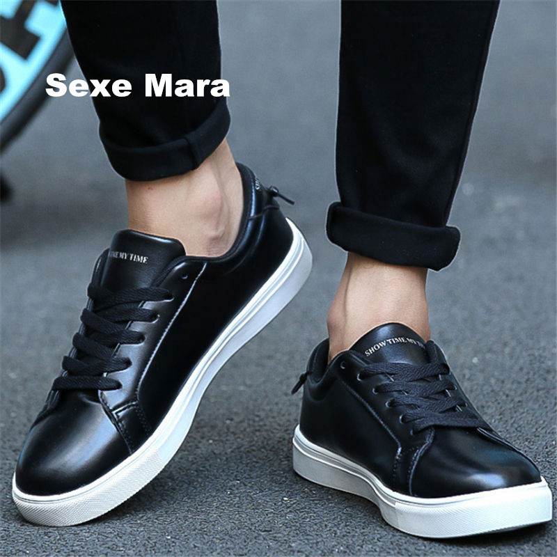Men shoes High quality casual Flat shoes Unisex Low help white lace-up fashion joker zapatillas deportivas mujer zapatos hombre 2017 new summer breathable men casual shoes autumn fashion men trainers shoes men s lace up zapatillas deportivas 36 45