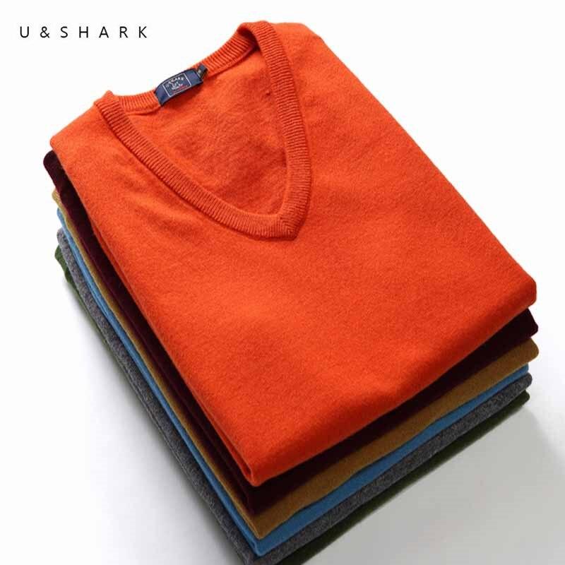 U&SHARK Mens Sleeveless Wool Sweaters Hi