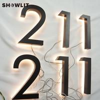 À prova d' água Levou Poder Iluminated 3D Sinais Logotipo Emboss|Placas de porta| |  -