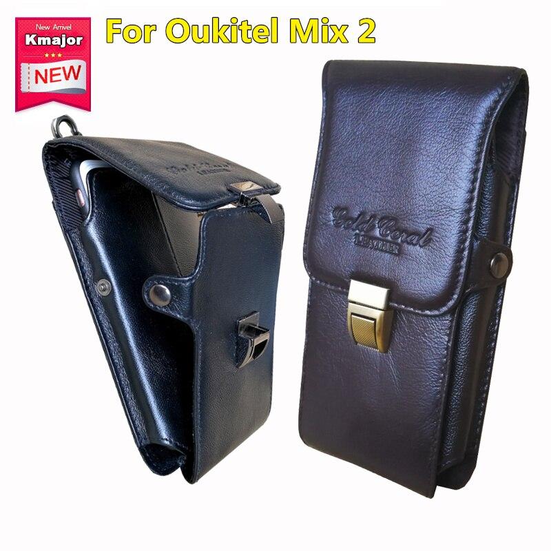 Пояса из натуральной кожи носить Зажим для ремня Талия мешок кошелек чехол для Oukitel Mix 2 Мобильный телефон сумка сотовый телефон Сумки Беспла…