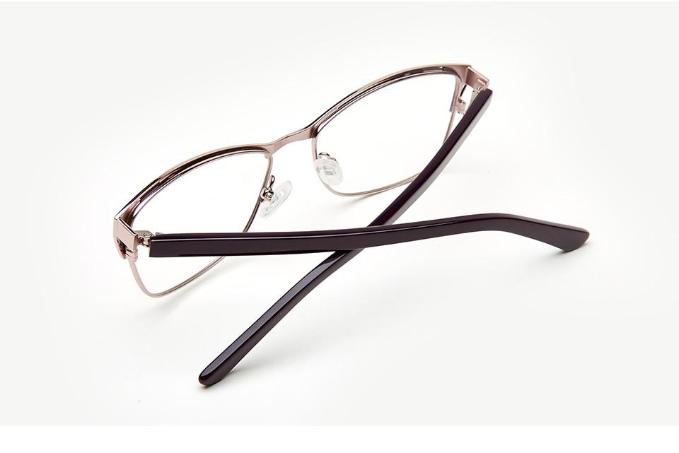 2d44144ecd94 Metal Eyeglasses Frame Women Purple Retro Clear Vintage Cat Eye Glasses  armacao de oculos de grau para mul TWM7553C1 1 -1  01  07  05  06  02 ...