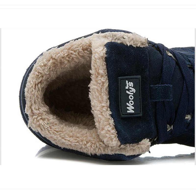 Mannen Schoenen Winter Warm Bont Mannen Casual Schoenen Flock Schoeisel Voor Winter Man Sneakers Hoge Toevallige Mannen Schoenen