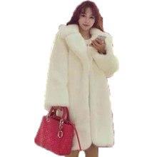 Casaco De Pele do inverno Das Mulheres Novas Do Leopardo Do Falso Casaco De Pele Artificial Casacos de pele de Manga Comprida Moda Feminina Branco Mulheres Long Fur casaco