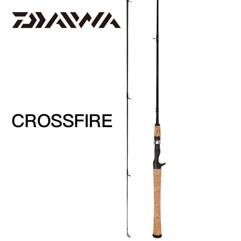 DAIWA CROSSFIRE filature/coulée canne à pêche carbone Action rapide canne à leurre UL/M/MH puissance 1.68/1.83/1.98/2.13M Guide d'oxyde d'aluminium