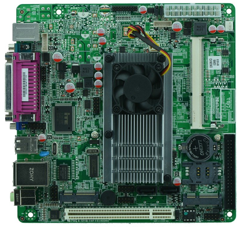 Hot Sales industrial embedded motherboard ITX_M58_A52 Intel D525/1.80GHz dual core CPU with 8*USB/2*COM/1*VGA cheap price industrial embedded mini itx motherboard itx m58 d56l support d525 1 80ghz dual core cpu with 8 usb 6 com
