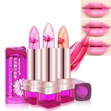 1 pc Temperature-changed jelly Lipstick long lasting moisturizing Lip Balm waterproof Makeup flower Lipstick Lips Care Hot Z3