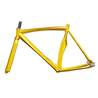 Fixed Gear bike frame 48cm 52cm Multicolor Aluminum alloy Fixie Frame And Fork aluminum frame fork