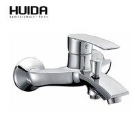 HUIDA для ванной с настенным креплением смеситель для ванной комнаты части с одной ручкой ванна кран холодной горячей воды mixerHDA3573Y