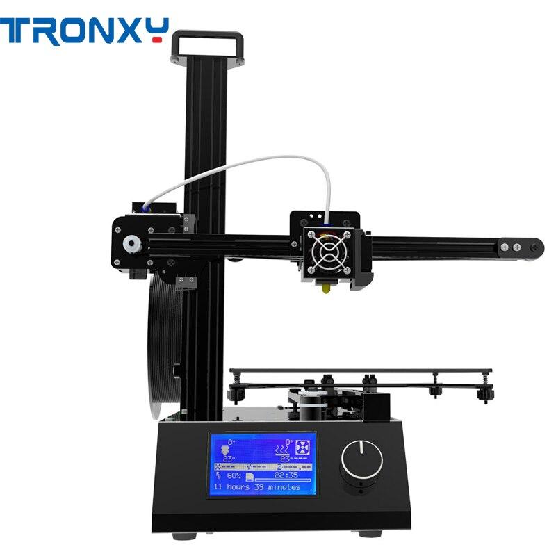 Tronxy X2 imprimante 3D en aluminium 220*220*220mm taille d'impression avec double ventilateurs de refroidissement/écran LCD HD/bouton bouton Design