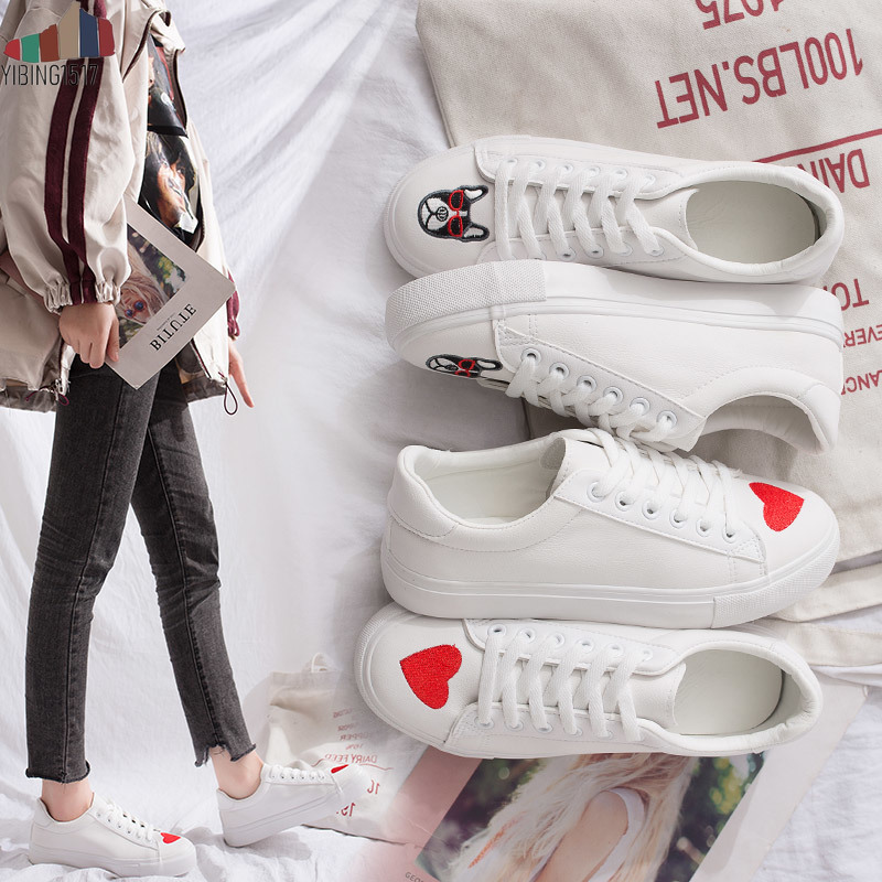 Women Shoes Summer 2019 Spring Women White Casual Shoes Breathable Flats Fashion Sneakers Women Vulcanization Shoes(China)