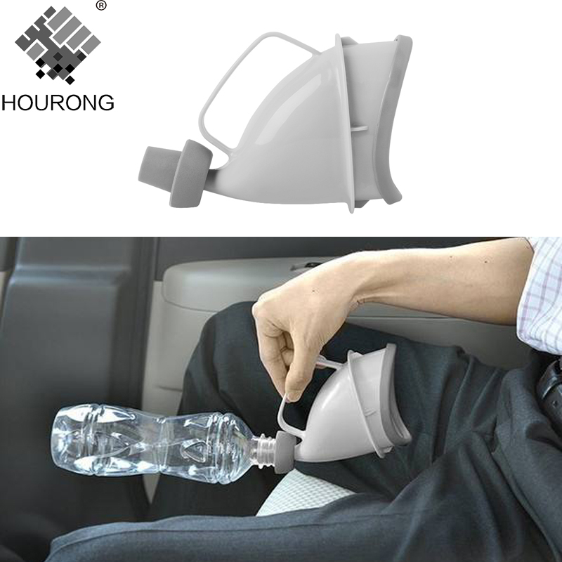 1pc Portable Travel Urinal Car Handle Urine Bottle Urinal Funnel Tube Outdoor Camp Urination Device Stand Up & Pee Toilet цена