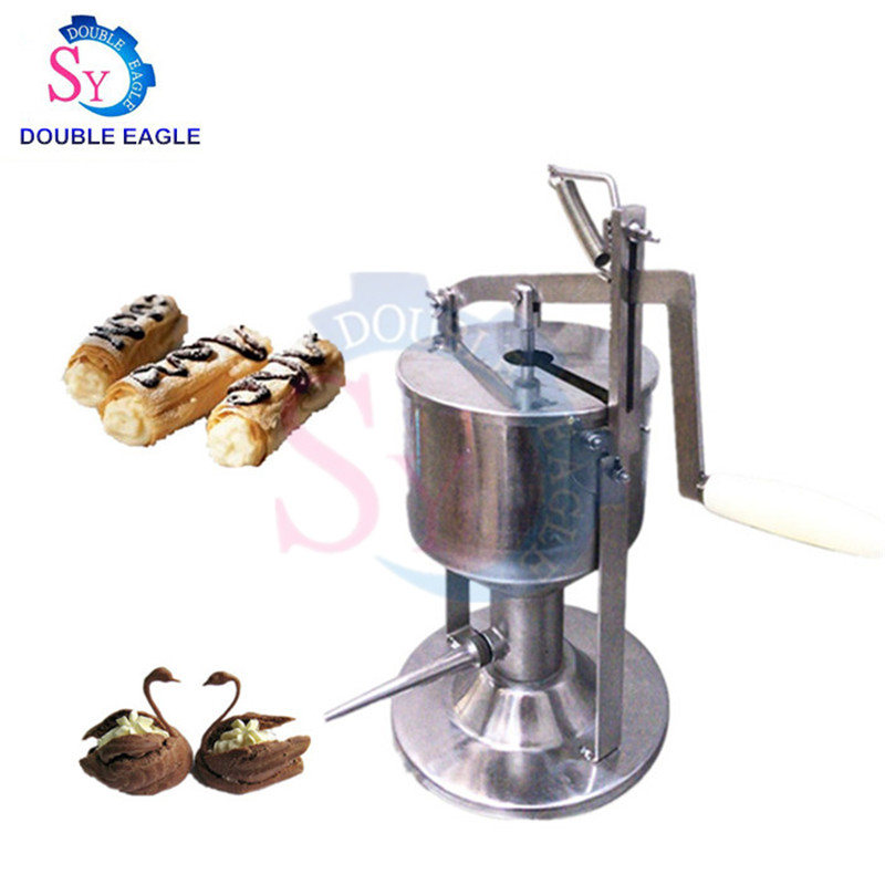 Wholesale price commercial portable manual puff cream filling machine/hand press Jam filled cake injection Machine|Food Filling Machines| |  - title=