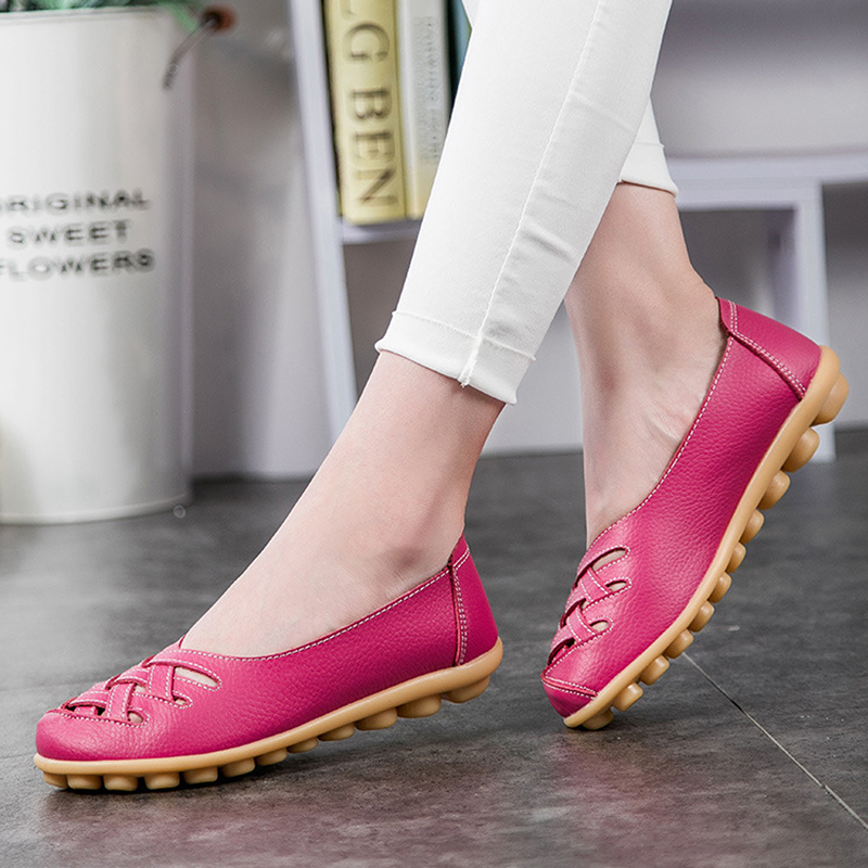 KUIDFAR Women Flats 2018 New Women Shoes Fashion Solid Soft Loafers Summer Women Casual Flat Shoes 13 Color