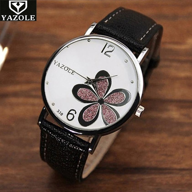 YAZOLE watch women luxury relogio feminino Flower Bracelet Watches Ladies Tungst