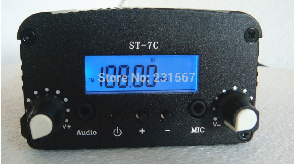 New arrival 7W FM Stereo broadcast radio FM transmitter for radio station Frequency range 76 108Mhz