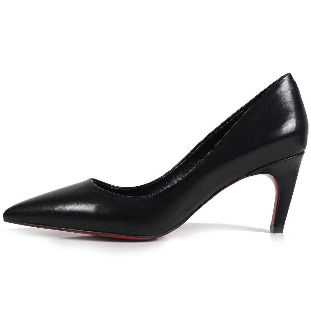 Mariage Mujer Sapatos Patine Main 6 Cm Bureau Talons Cuir 5 Hauts Vikeduo Femmes Parti Zapatos Noir De Dames Chaussures Véritable OiuXZPk