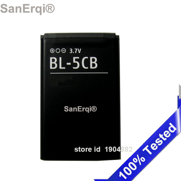 BL-5CB For Nokia 1616 1800 Battery BL 5CB  Mobile Phone High Quality SanErqi