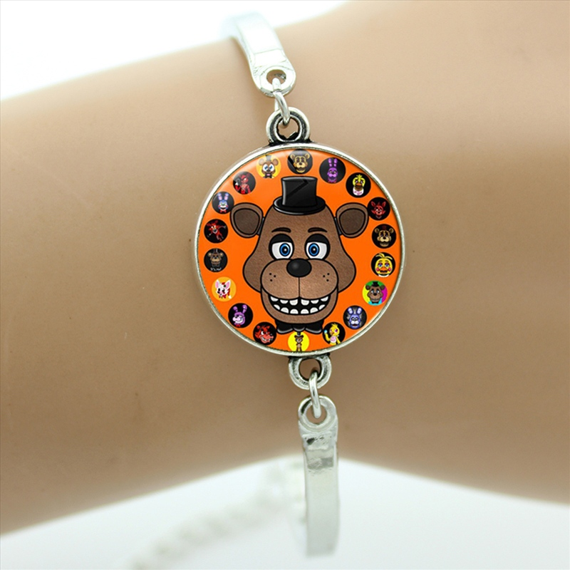 New fashion cartoon game case for Five Nights at Freddys bracelets FNAF Mangle Foxy women kids jewelry childrens gifts CT04