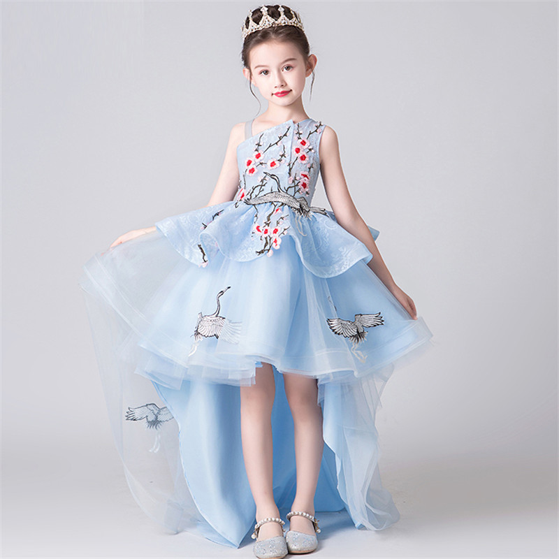 2019 Summer Luxury New Baby Kids Embroidery Flowers Evening
