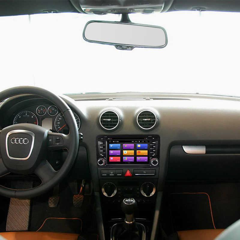 2Din アンドロイド 9.0 カーマルチメディアプレーヤー AutoRadio アウディ A3 8 1080P S3 RS3 スポーツバック 2003 2004 2005 2006 2007 2008 2009 2010 2011DVD