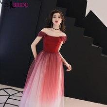 Gorgeous Women Elegant Long Evening Dresses Formal Lace Short Sleeve Boat-neck Red Party Dress Plus Size ES1222
