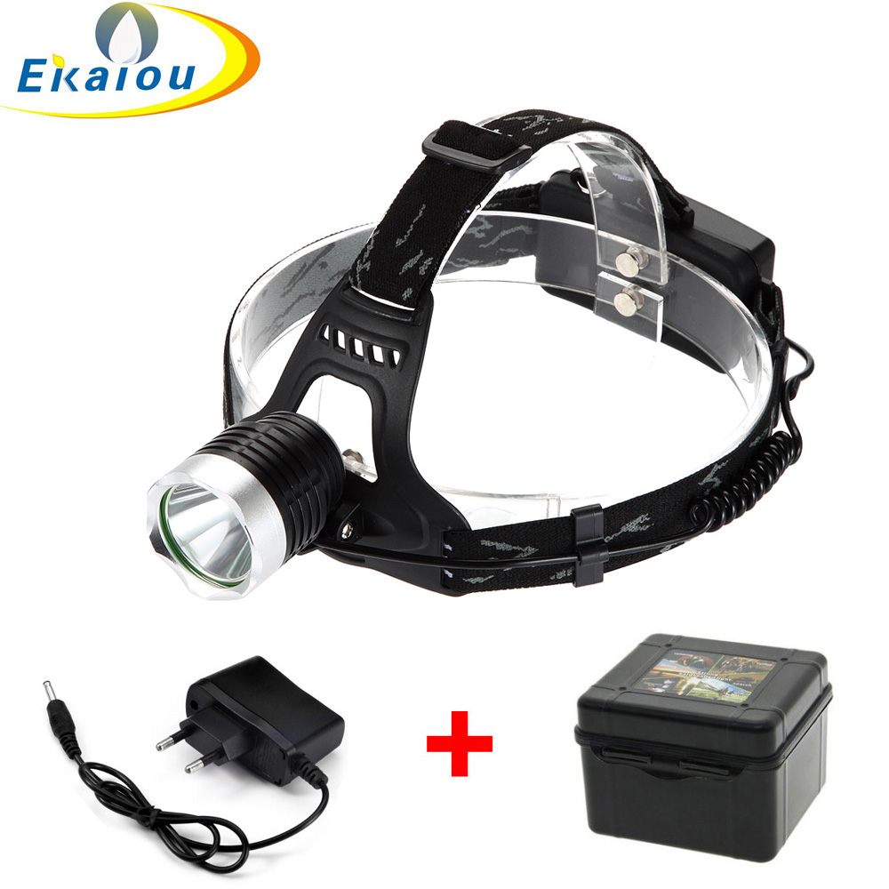 Hot T6 LED Headlamp Bicycle Light 18650 Head lights <font><b>1000</b></font> Lumens Rechargeable LED Headlight flashlight Torch image