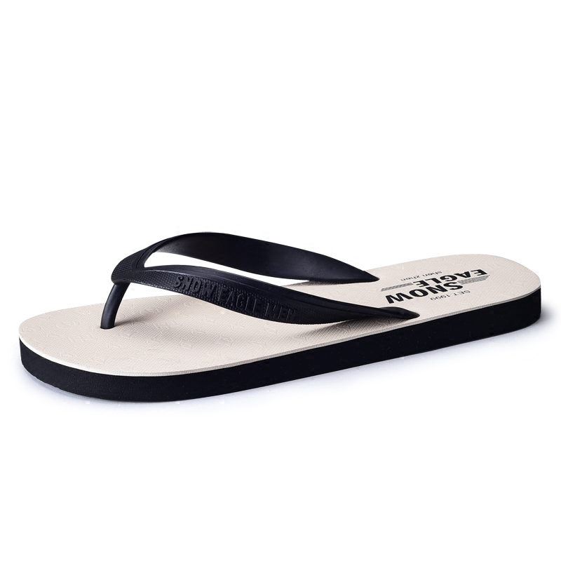 Careful Slippers Mens Summer New Flip Flops Mens Non-slip Rubber Korean Version Of The Tide Slippers Students Beach Clip Feet Attractive And Durable Men's Shoes Flip Flops